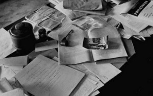 Albert Einstein íróasztala halála napján