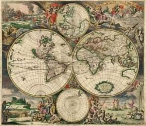 Világtérkép 1689-ből