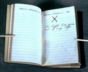 """T. Roosevelt naplóbejegyzése édesanyja és felesége halálakor """"Amikor a fény kihunyt az életemben."""""""
