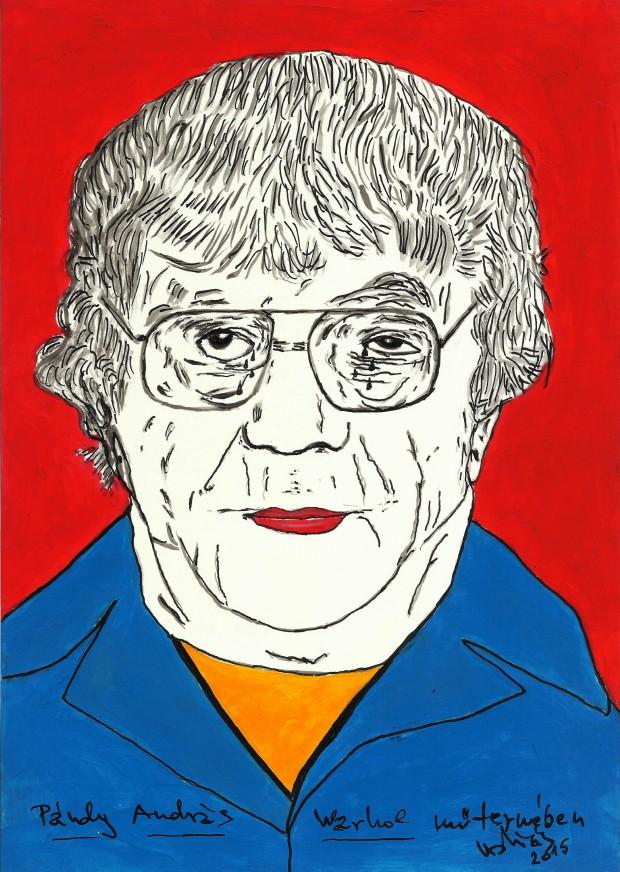 Pándy-András-Warhol-műtermében