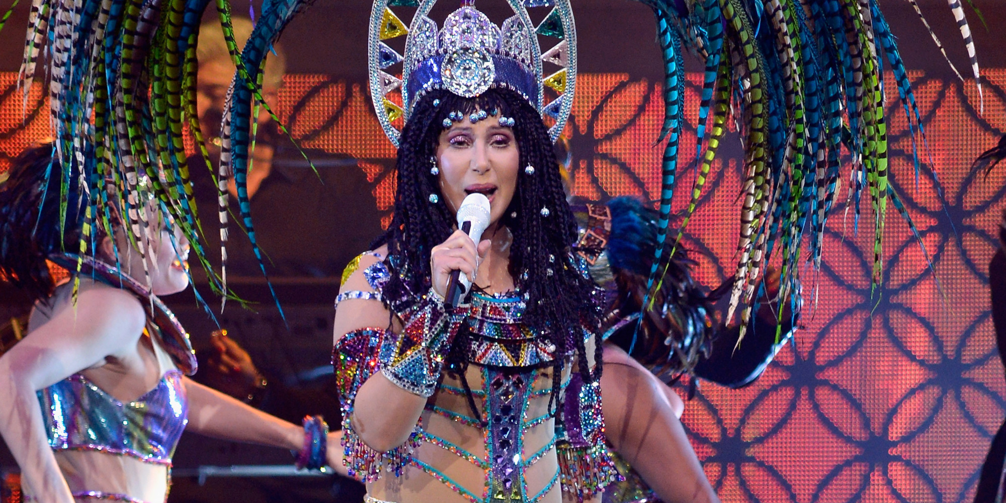 BOSTON, MA - APRIL 09:  Cher performs in concert at TD Garden on April 9, 2014 in Boston, Massachusetts.  (Photo by Paul Marotta/Getty Images)