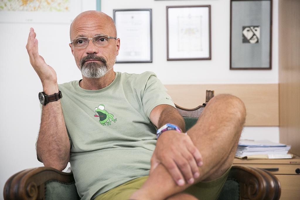 Zacher Gábor főorvos, a Honvédkórház sürgősségi osztályának vezetője Fotó: Horváth Péter Gyula