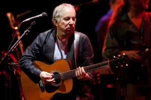 US singer Paul Simon performs during the 45th Montreux Jazz Festival on July 14, 2011 in Montreux. The music festival will last until next July 16.  AFP PHOTO / FABRICE COFFRINI (Photo credit should read FABRICE COFFRINI/AFP/Getty Images)