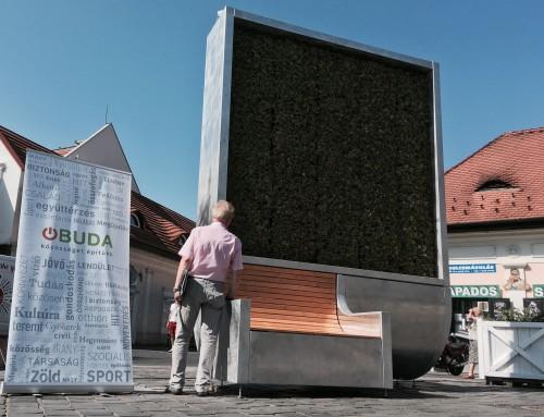 Akik zöldre váltottak – Az országban egyedülálló innovatív utcabútort kapott Óbuda (VIDEÓ)